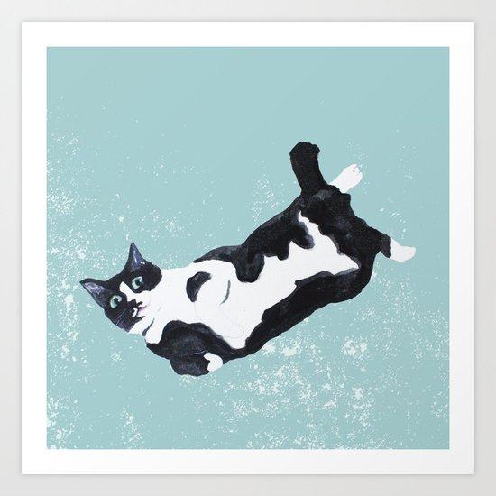tuxedo cat by aikogg