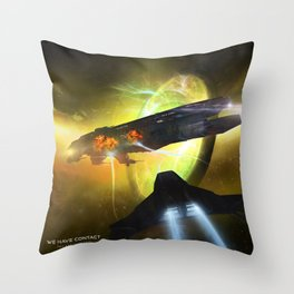 We Have Contact - Portrait 01 Throw Pillow