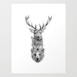 Totem. Art Print