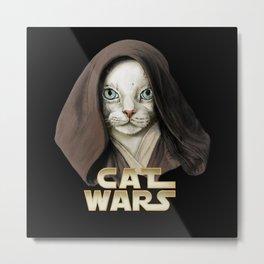 Cat Obi Wan Metal Print