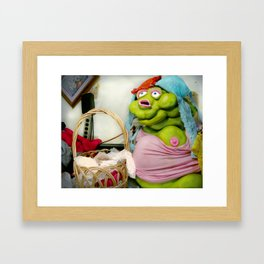Meet Chester: Panty Thief Framed Art Print