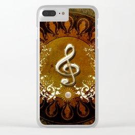 Music, wonderful decorative clef Clear iPhone Case