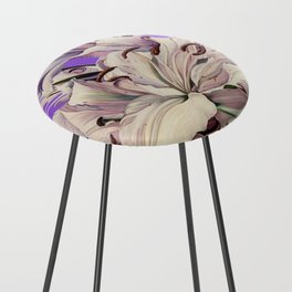 """Purple Lilies"" Counter Stool"