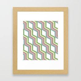 Pastel Cheveron Pattern Framed Art Print