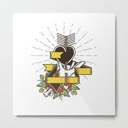 Del Corazón Metal Print