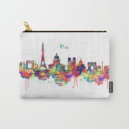 Paris Skyline Silhouette Carry-All Pouch
