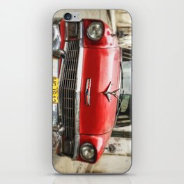 Vintage Red American Car on the Streets of Havana. iPhone Skin