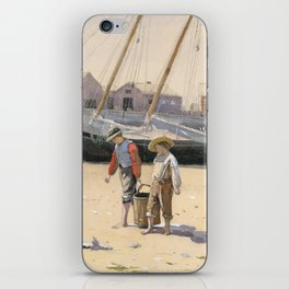 A Basket of Clams Winslow Homer 1873 iPhone Skin