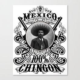 Zapata Black Canvas Print