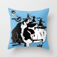 israel Throw Pillows featuring Israel sharpens defenses by Jonas Keppens