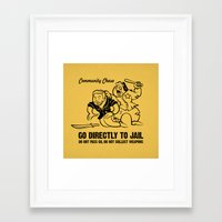 community Framed Art Prints featuring Community Chase by Fanboy30