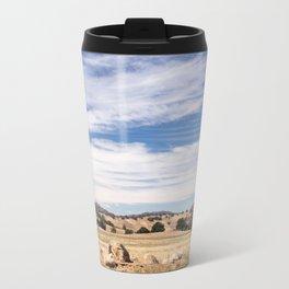 Dry meadows and rolling hills near Julian, CA Travel Mug