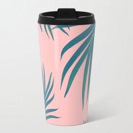 Palm Leaves Pattern Blush Vibes #1 #tropical #decor #art #society6 Travel Mug