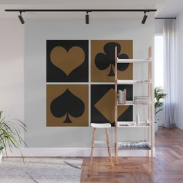 Cards series - Black and brown Wall Mural