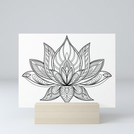 Lotus Line Drawing Mini Art Print