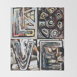 LOVE - Magazine Collage Throw Blanket
