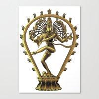 shiva Canvas Prints featuring Shiva by Aurapim Vorasopan