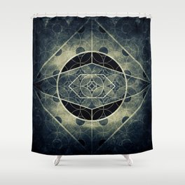 Sacred Geometry for your daily life -  SATURN EYE Shower Curtain