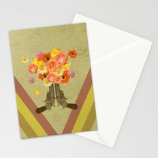 In my world, flowers come out of guns Stationery Cards