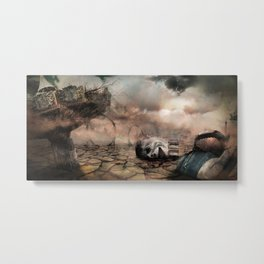 Abandoned Theme Park: Matte Painting Metal Print