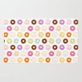 Happy Cute Donuts Pattern Rug
