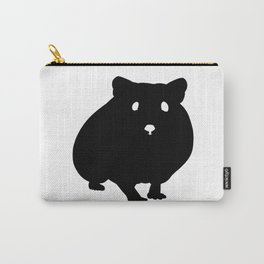 Hamster Black Silhouette Pet Animal Cool Style Carry-All Pouch