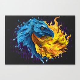 Eagles Elemental Yin Yang Canvas Print