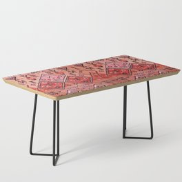 N52 - Pink & Orange Antique Oriental Traditional Moroccan Style Artwork Coffee Table