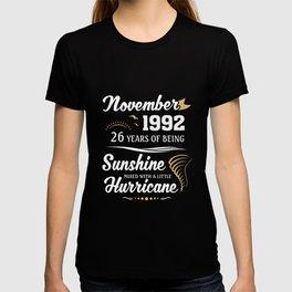 November 1992 Sunshine mixed Hurricane T-shirt