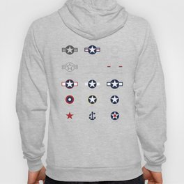 U.S. Military National Aircraft Roundels from 1916 to Present Hoody
