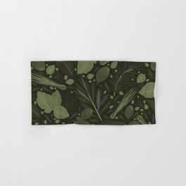 Green Herbs Spices / Olive Green Palette Hand & Bath Towel