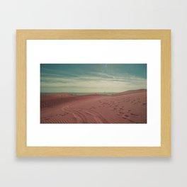 Pink dunes of Maspalomas Framed Art Print