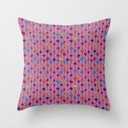 Electric Flower Buds Throw Pillow