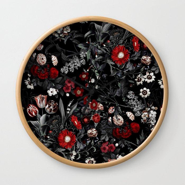 EXOTIC GARDEN - NIGHT IV Wall Clock