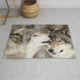 Wolf Kisses Rug