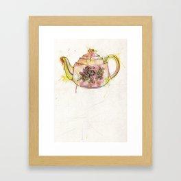 Watercolour Vintage Teapot Framed Art Print