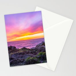 California Dreaming - Brilliant Sunset in Big Sur Stationery Cards