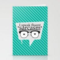 sarcasm Stationery Cards featuring Sarcasm by Daniac Design