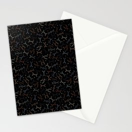 Feynman diagrams and Particles on Black Stationery Cards