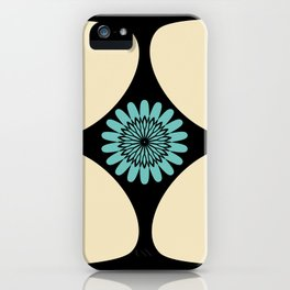 Tear Drop Flower Petals Inset Sunflower Graphic iPhone Case