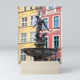 Neptune Fountain in Gdansk Mini Art Print