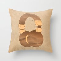 headphones Throw Pillows featuring Headphones by MelRae