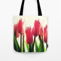 tulips Tote Bags featuring Tulips by 2sweet4words Designs