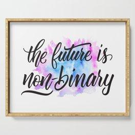 Nonbinary Future Serving Tray