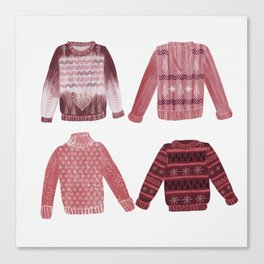 Ugly Christmas jumpers Canvas Print