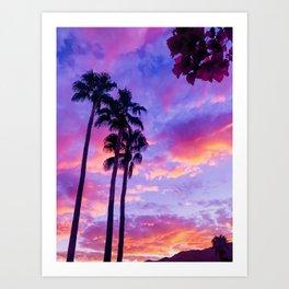 PS Sunset and Bouganvilla Art Print