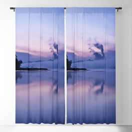 Tranquil blue nature Blackout Curtain