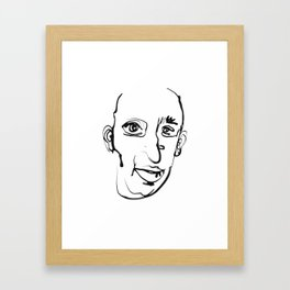 FACES / 002 Framed Art Print