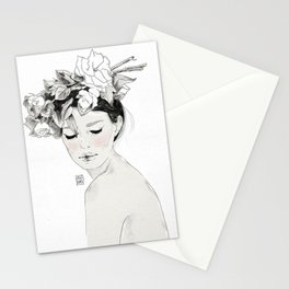 Flowers crown Stationery Cards