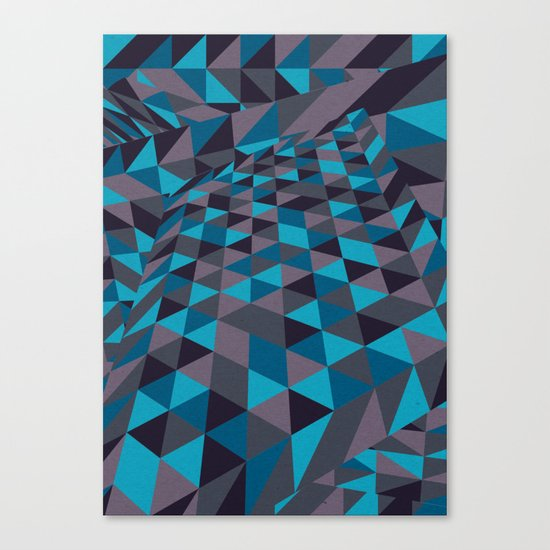Triangulation (Inverted) Canvas Print